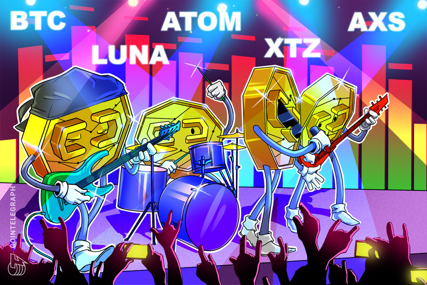 Top 5 cryptocurrencies to watch this week: BTC, LUNA, ATOM, XTZ, AXS