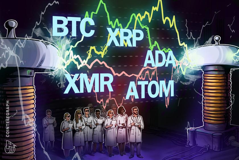 Top 5 cryptocurrencies to watch this week: BTC, XRP, ADA, XMR, ATOM